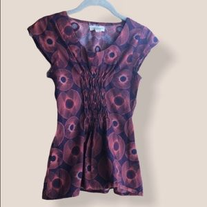 Mata Traders purple red cotton top size XS